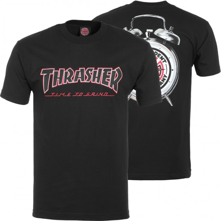 Футболка м Independent x Thrasher TTG T-Shirt Black