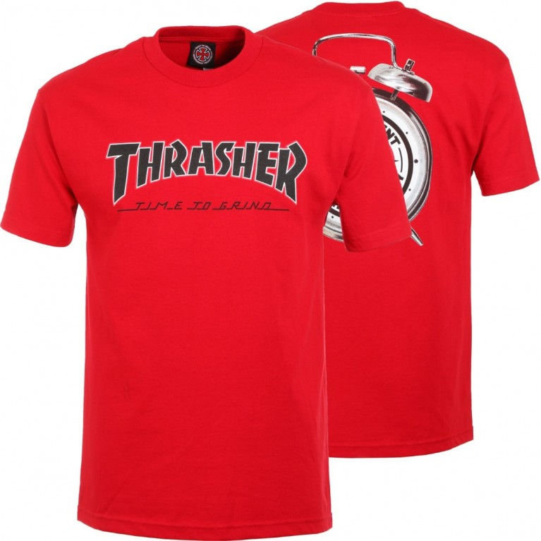 Футболка м Independent x Thrasher TTG T-Shirt Cardinal Red
