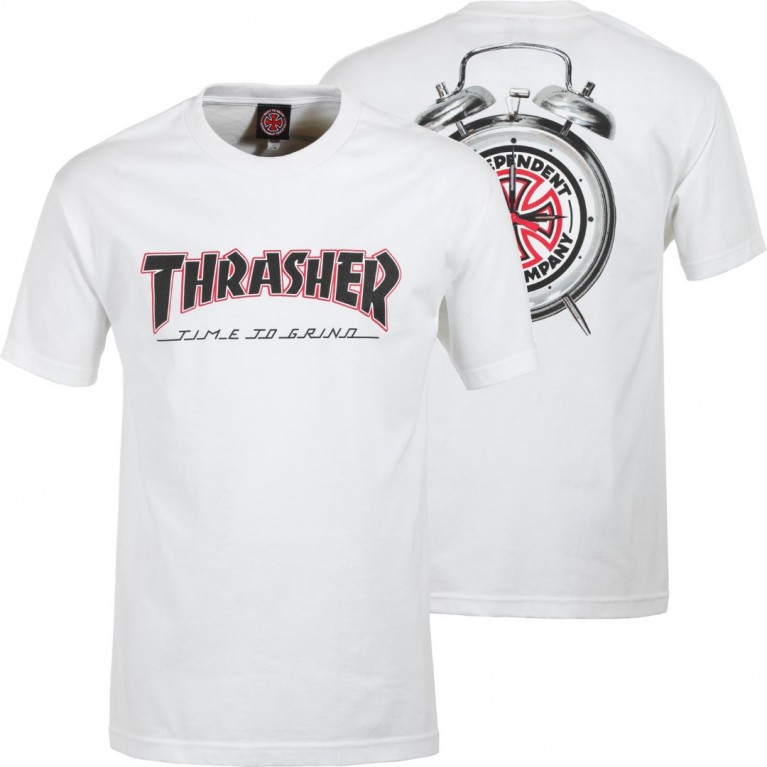 Футболка м Independent x Thrasher TTG T-Shirt White