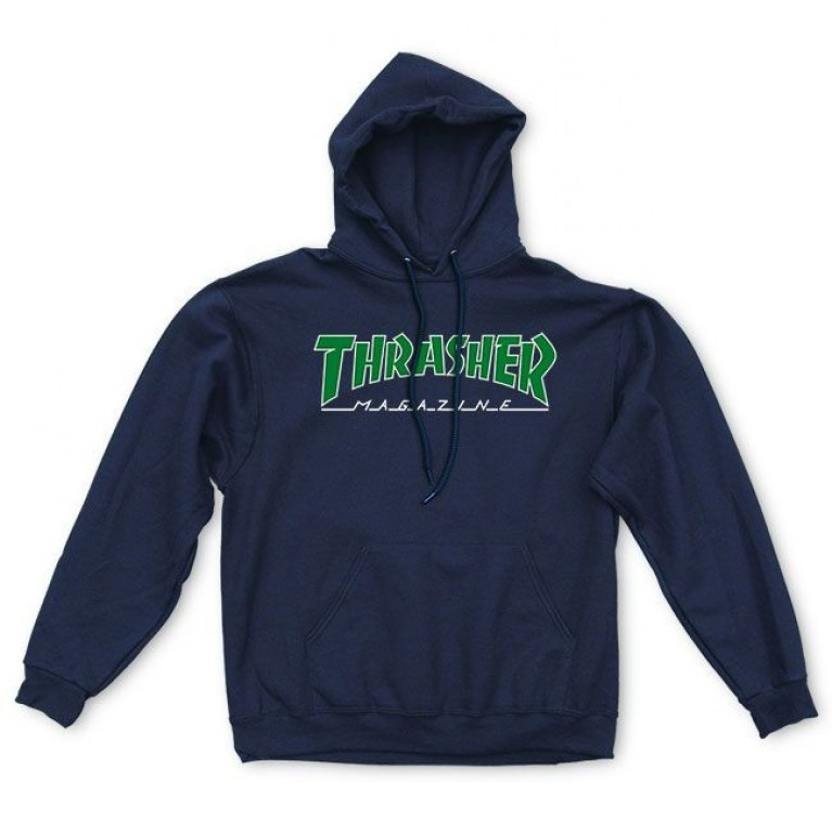 Толстовка Thrasher Outlined Hoodie Navy Blue