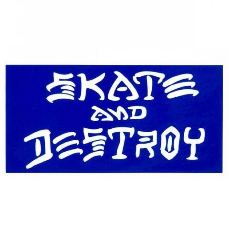 Стикер Thrasher Skate & Destroy Small Blue