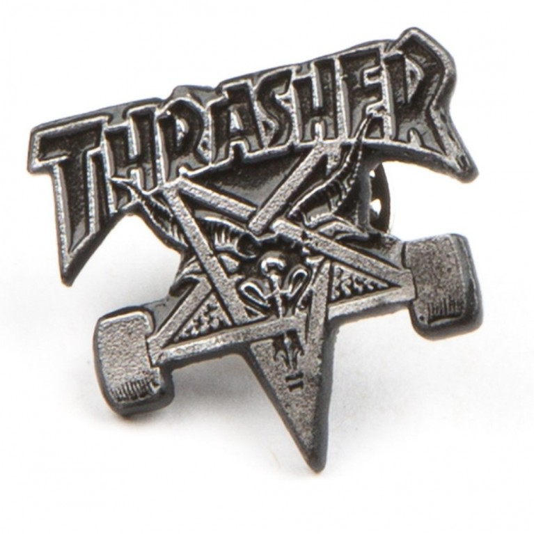 Значек Thrasher Label Pin Skate Goat
