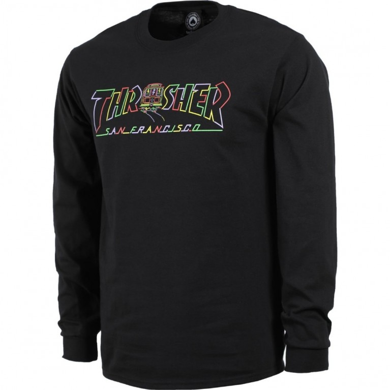 Лонгслив Thrasher Cable Car Longsleeve Black