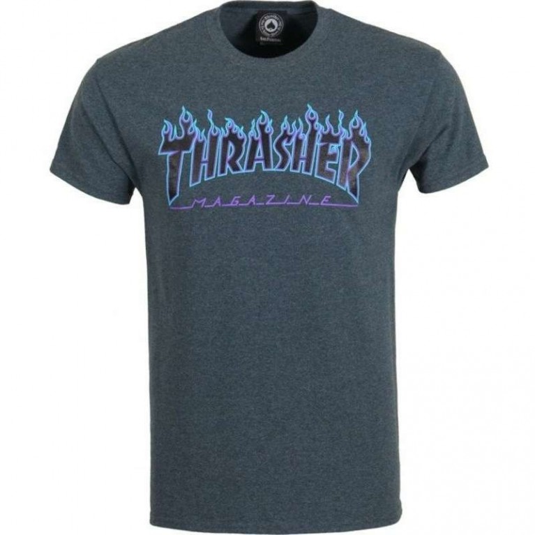 Футболка Thrasher Ripped Dark Heather