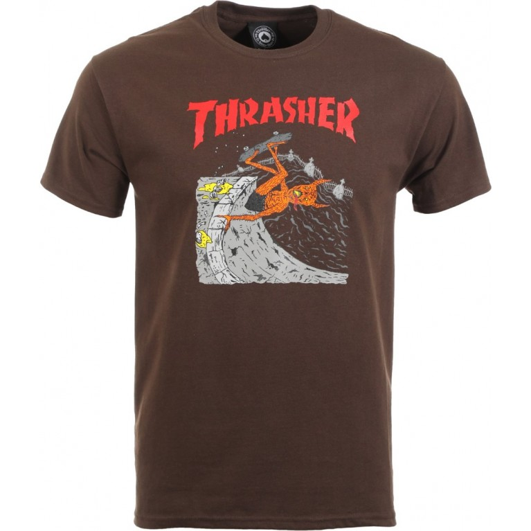 Футболка Thrasher NECKFACE INVERT BROWN