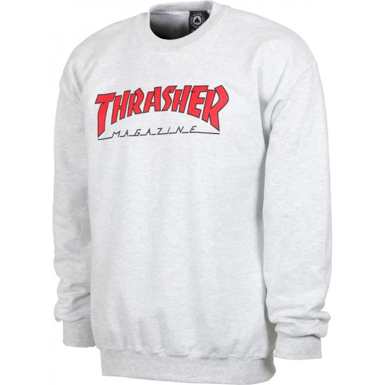 Кофта Thrasher Outlined Crewneck Ash Grey
