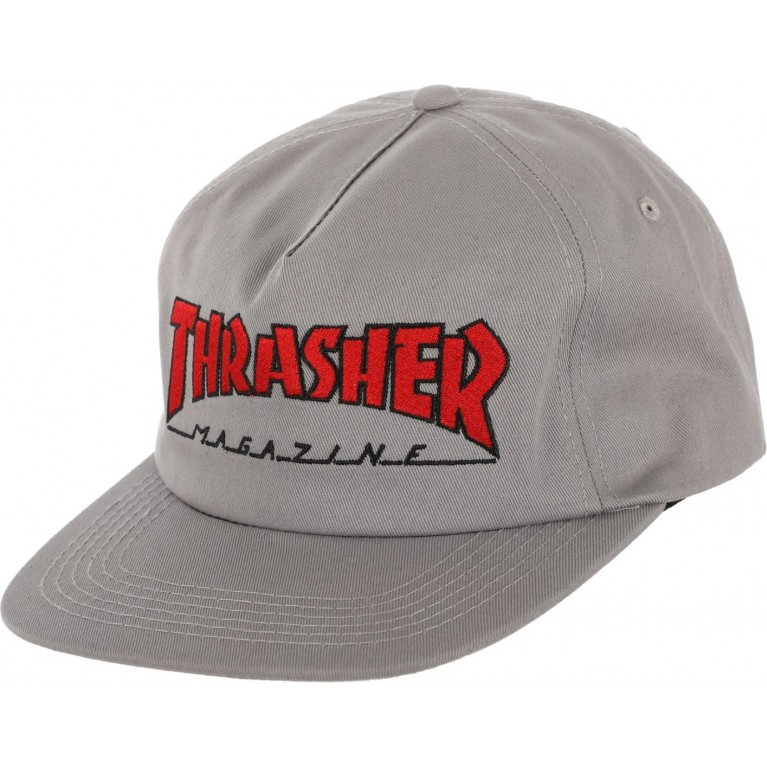 Кепка Thrasher Outlined Snapback Grey/Red