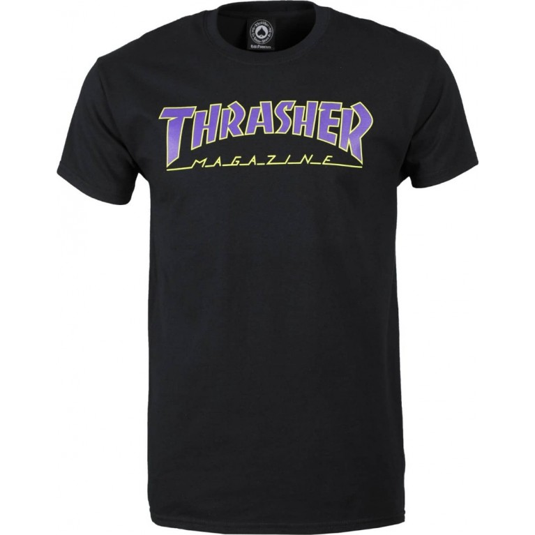 Футболка Thrasher Outlined Black Purple