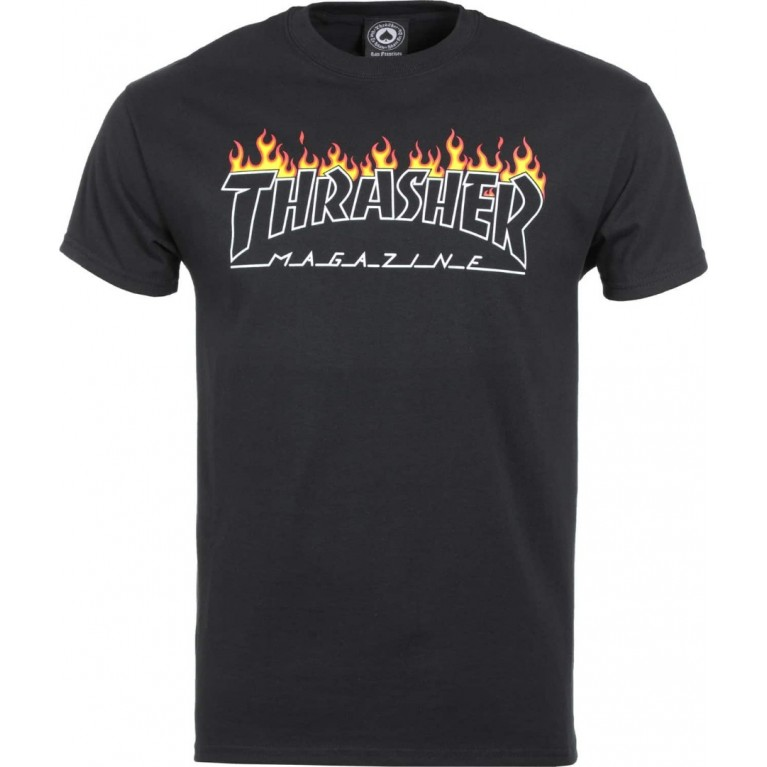 Футболка Thrasher Scorched Outline Black