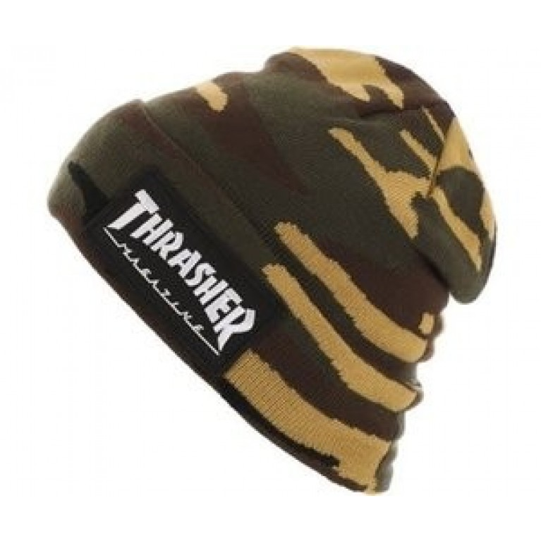 Шапка Thrasher Logo Patch Beanie Camo