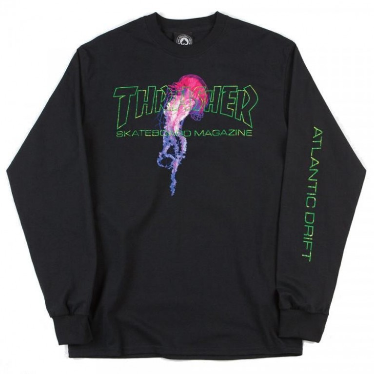 Лонгслив Thrasher Atlantic Drift Long Sleeve Tee Black