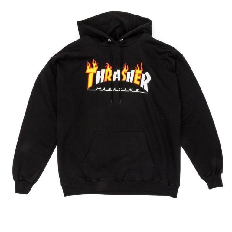 Толстовка Thrasher Flame Mag Logo Hoodie Black