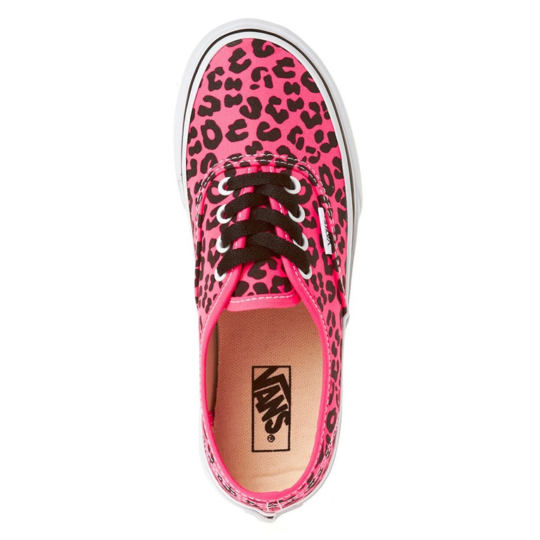 Кеды Vans Authentic Neon Leopard Pink/Black