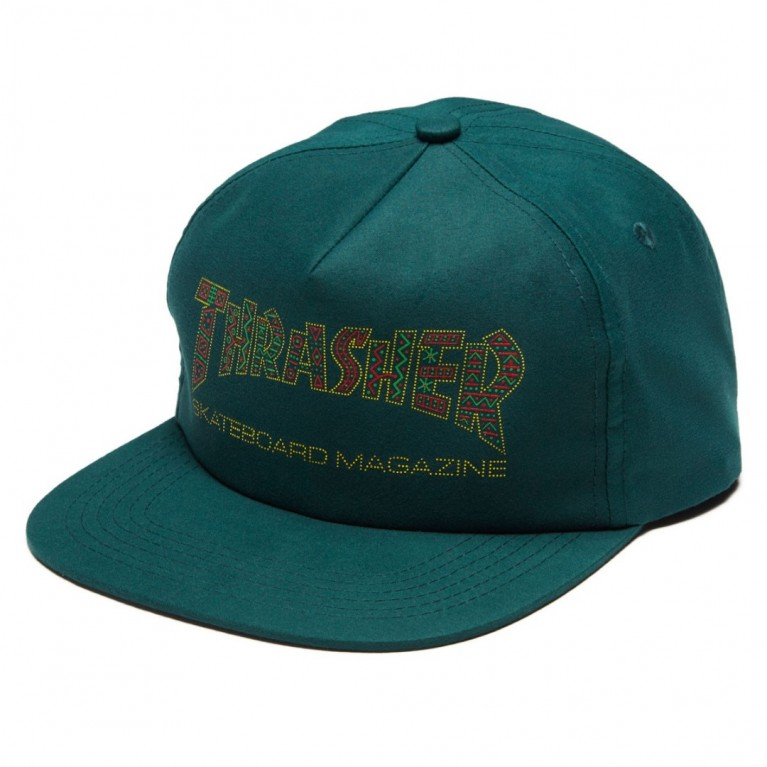 Кепка Thrasher Davis Snapback Forest Green