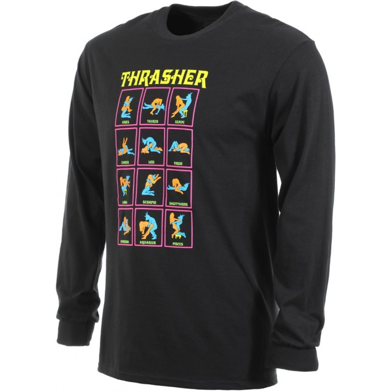 Лонгслив Thrasher BLACK LIGHT L/S BLACK