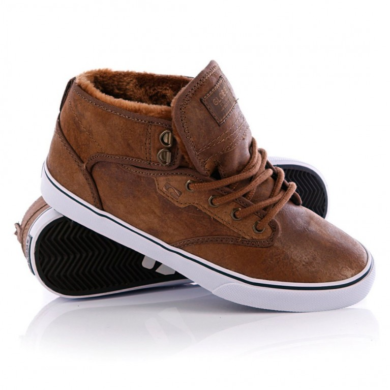 Кеды Globe Motley Mid Dist Brown Fur