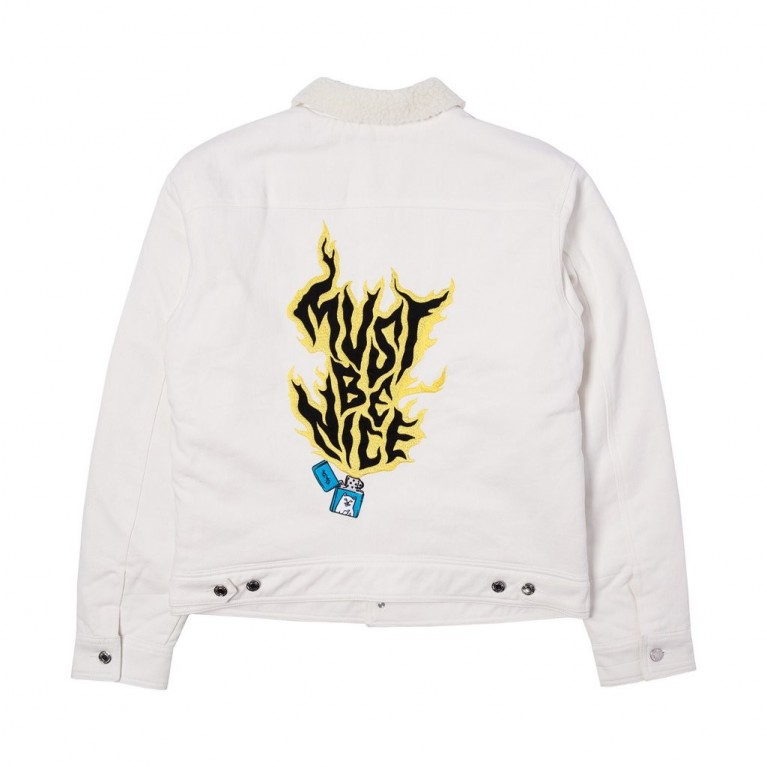 Куртка Ripndip Lit AF Denim Jacket White