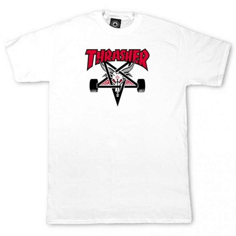 Футболка Thrasher Two-Tone Skate Goat S/S White
