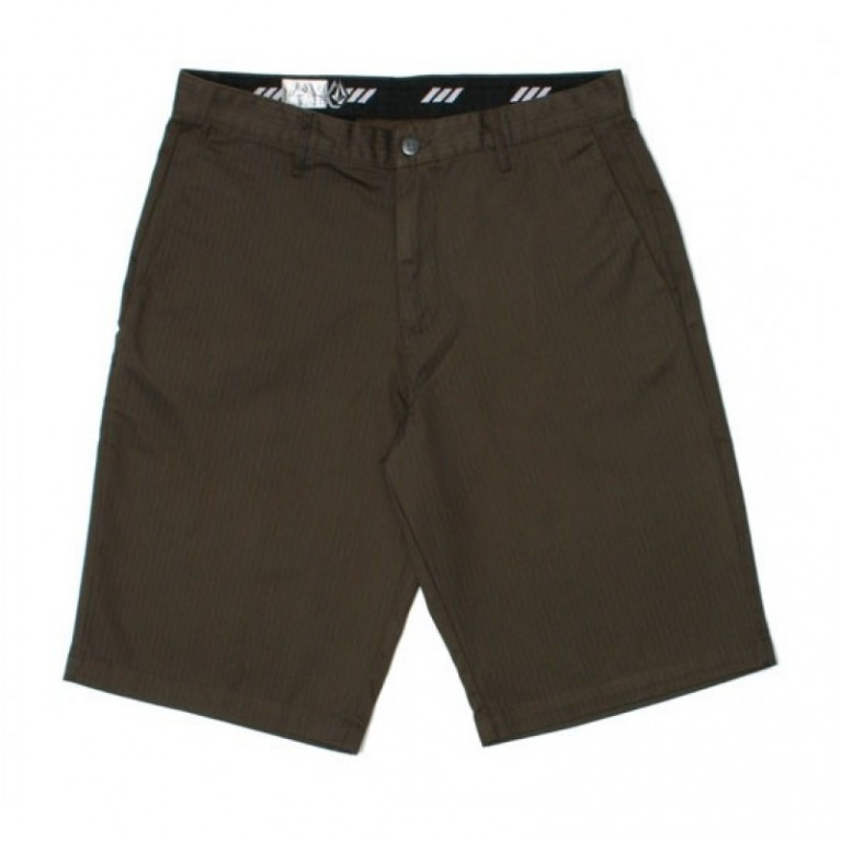 Шорты Volcom Men's Shorts Frickin Stripe Chino Short Brown