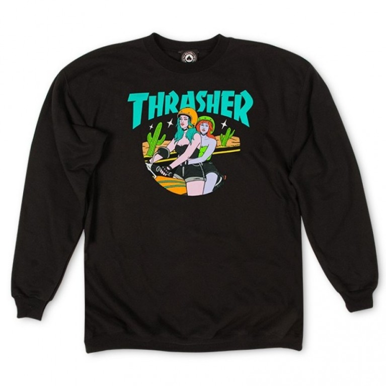 Кофта Thrasher Babes Crewneck Black