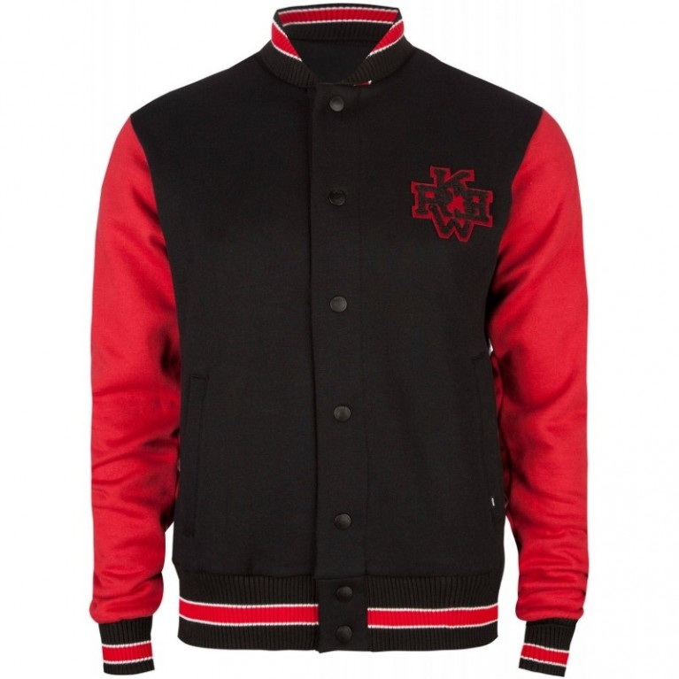 Куртка KR3W Fonzie Mens Letterman Black