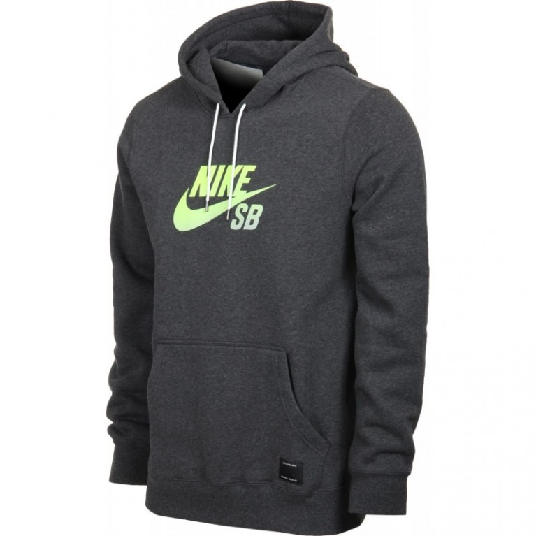 Nike Icon Gradient Pullover Hood Black Heather/Volt Yellow