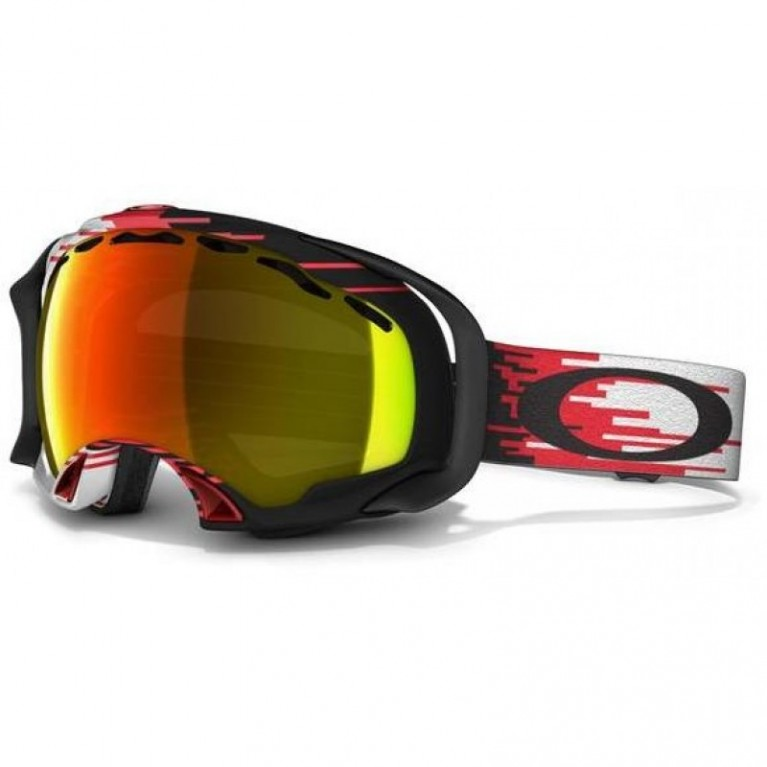 Маска Oakley Splice Hyperdrive Red w/ Fire Iridium