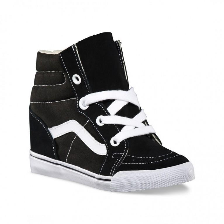 Кеды Vans Classic SK8-HI Wedge Black/White