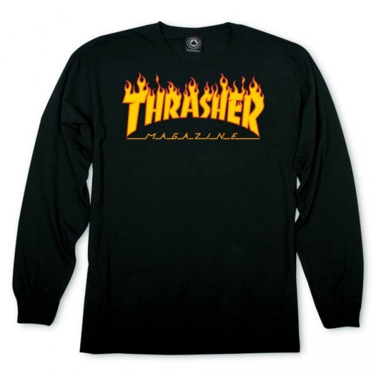 Лонгслив Thrasher Flame L/S Black