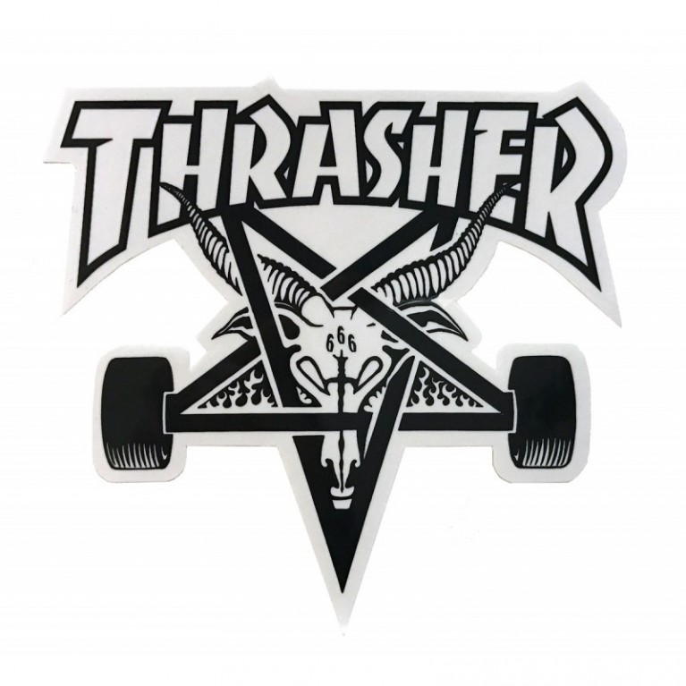 Стикер Thrasher Skategoat Die Cut white