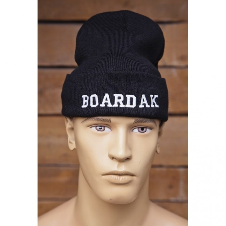 Шапка Boardak Knit Beanie Logo Black