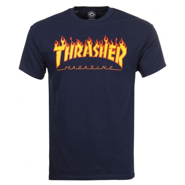 Футболка Thrasher Flame Logo T-Shirt Navy