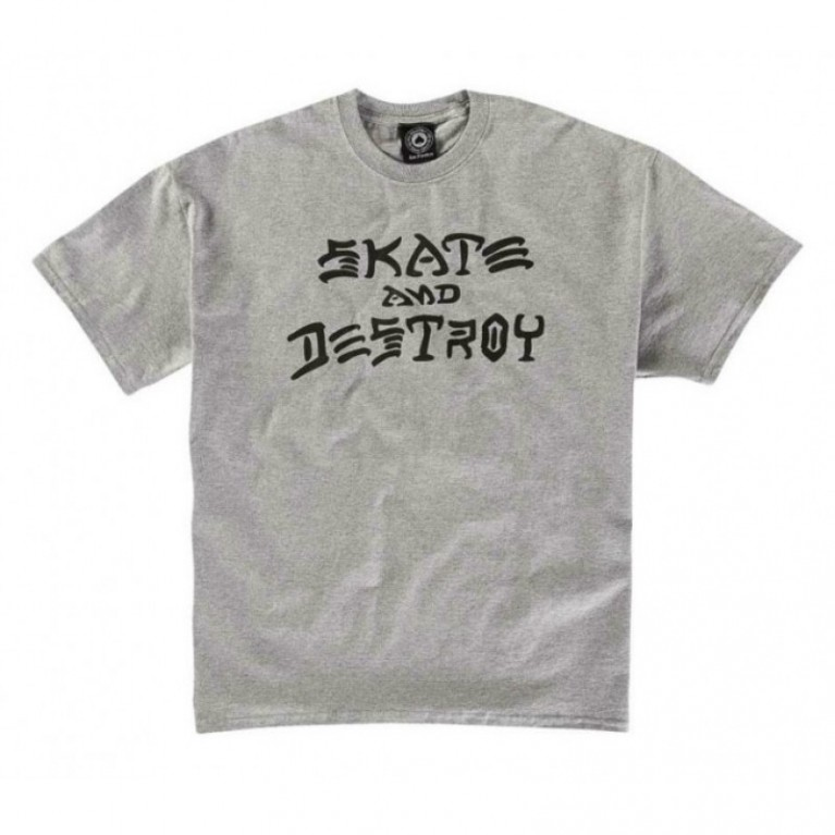 Футболка Thrasher Skate And Destroy T-Shirt Grey