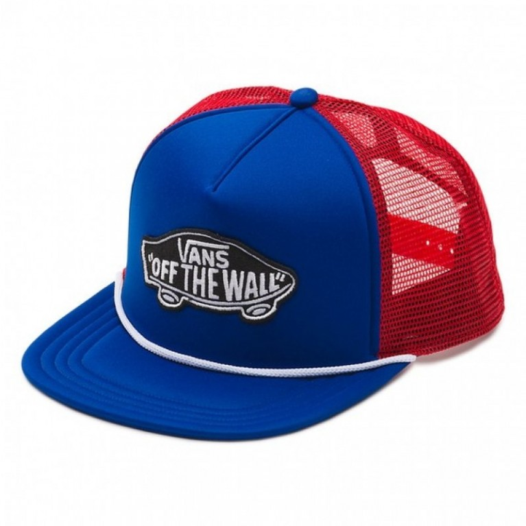 Кепка Vans Classic Patch Trucker Hat Royal Blue/High Risk Red