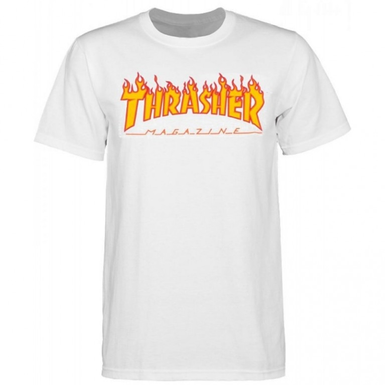 Футболка Thrasher Flame Logo T-Shirt White