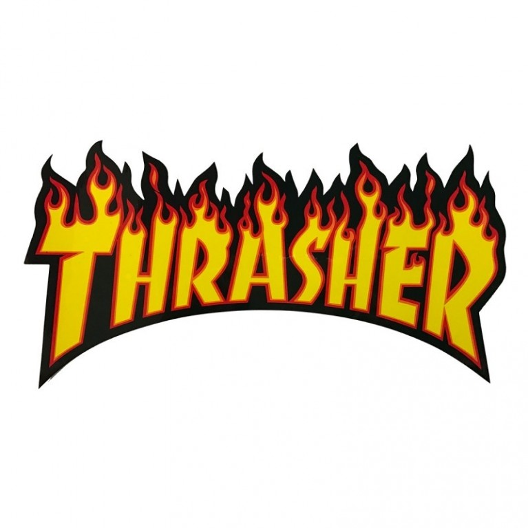 Стикер Thrasher Flame Logo Large black