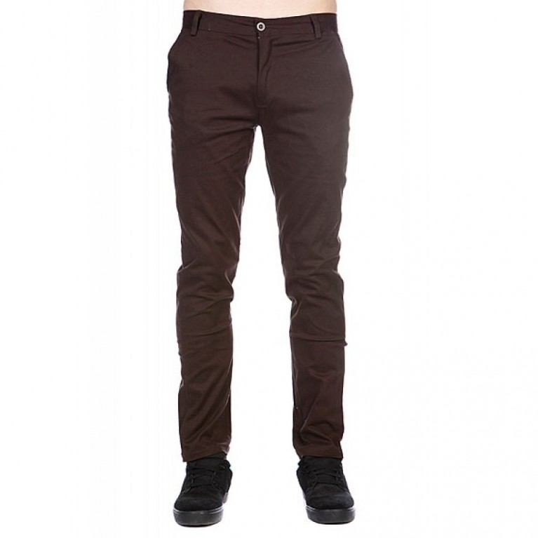 Брюки Enjoi Boo Khaki Slim Straight Dark Brown