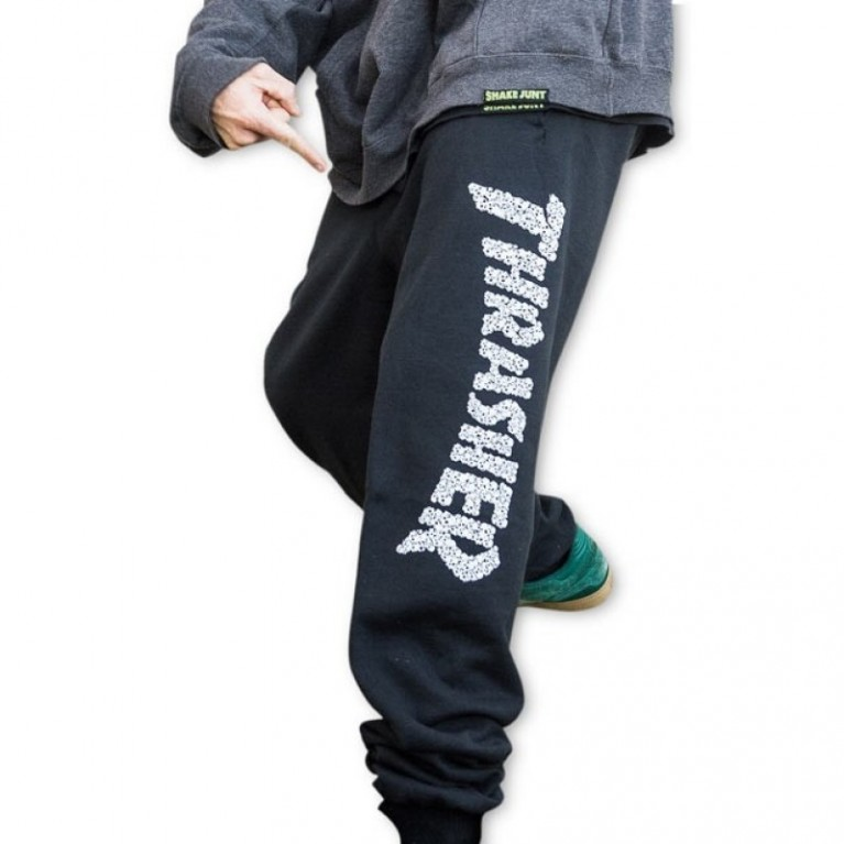 Штаны Thrasher Skull Sweatpants Black