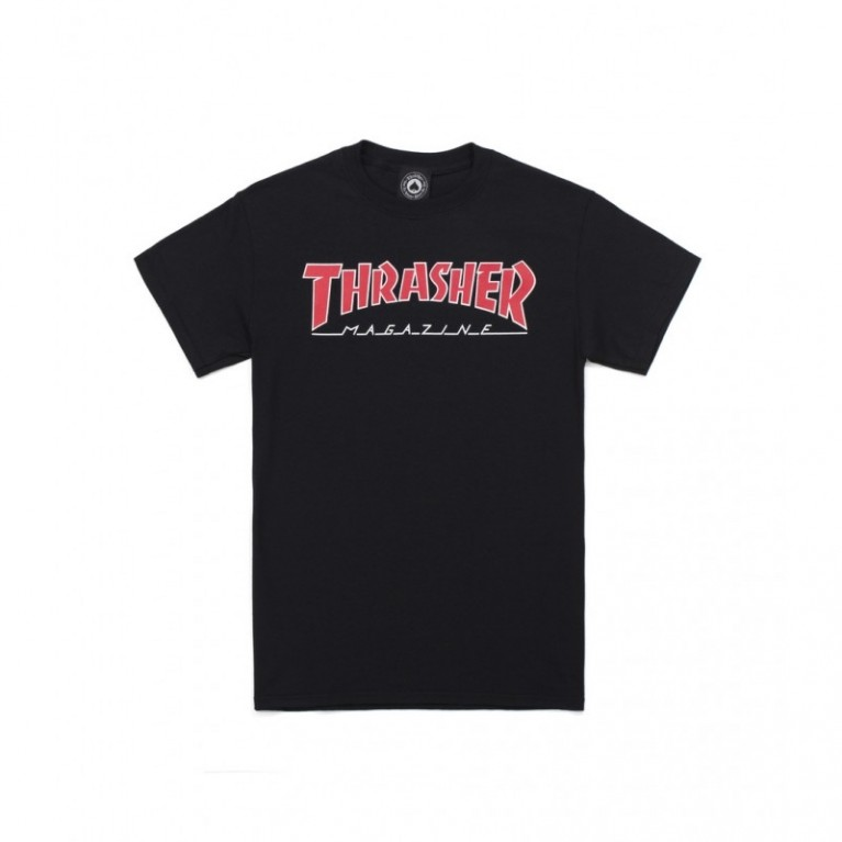 Футболка Thrasher Outlined T-Shirt Black