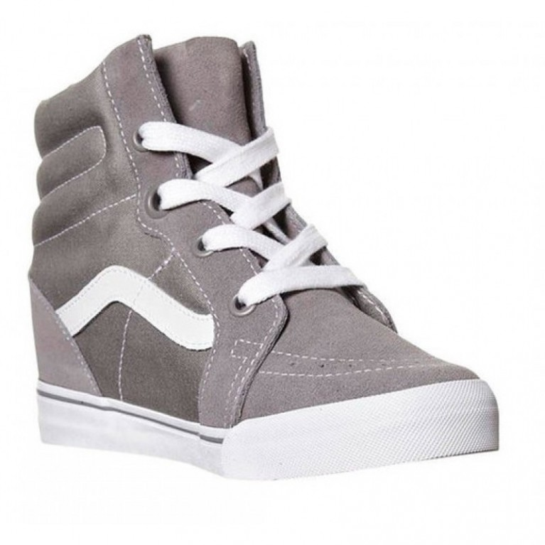 Кеды Vans Classic SK8-HI Wedge Neutral Gray/True White