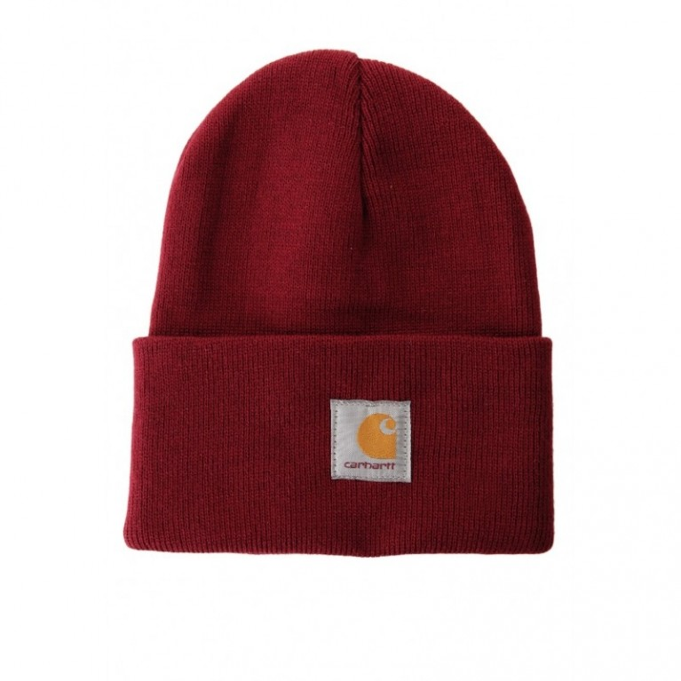 Шапка Carhartt ACRYLIC WATCH HAT Independence Red