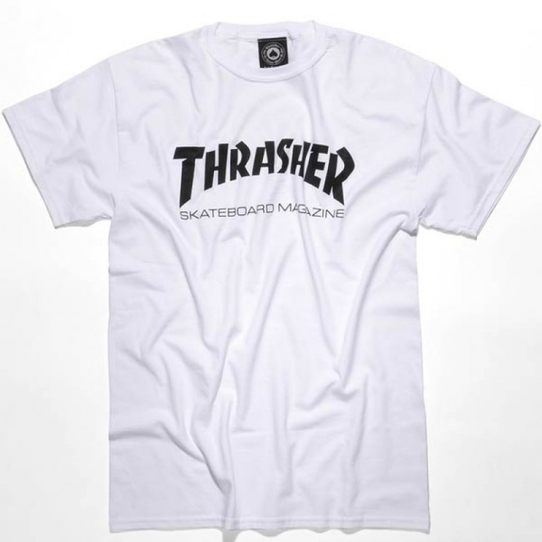 Футболка д Thrasher Skate Mag White Youth