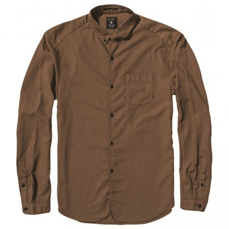Рубашка Globe Goodstock Oxford Shirt Brown