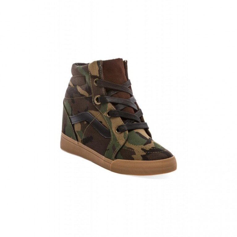 Кеды Vans Sk8 Hi Wedge Military Olive/Medium