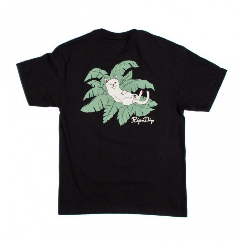 Футболка Ripndip Nermal Leaf Pocket Tee Black