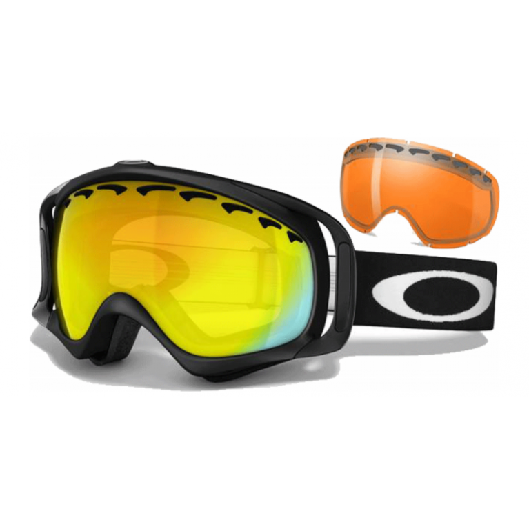 Маска Oakley Crowbar Matte Black w/ Fire Iridium & Persimmon (2 Lens)