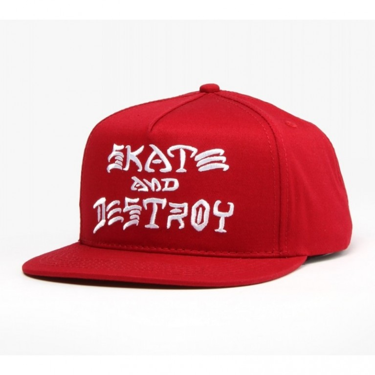 Кепка Thrasher Skate And Destroy Snapback Blood Red