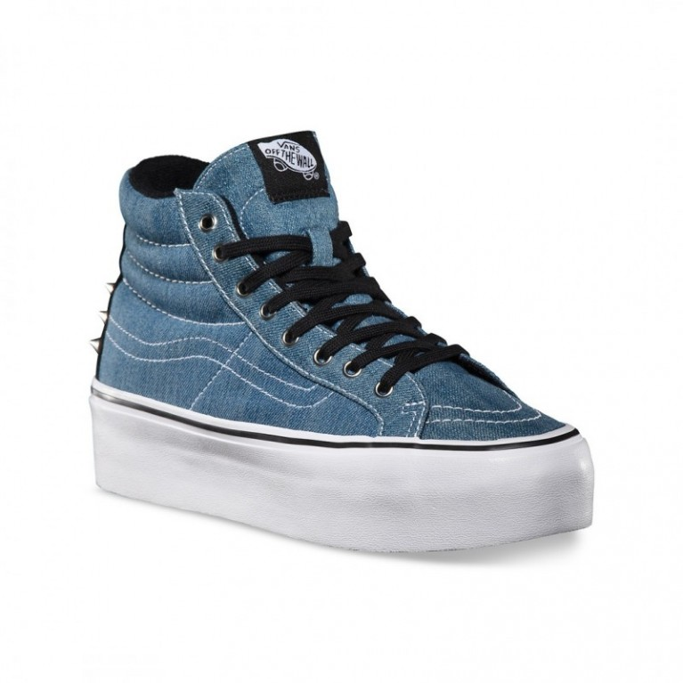 Кеды Vans Studded II Sk8-Hi Platform (Blue/True White)
