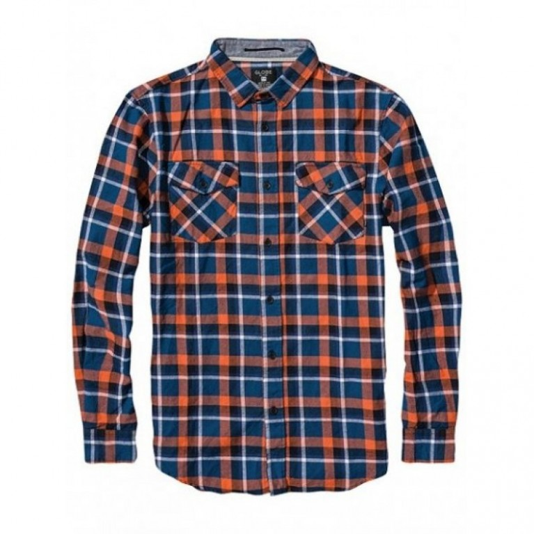 Рубашка Globe Corsair Shirt Blue/Orange