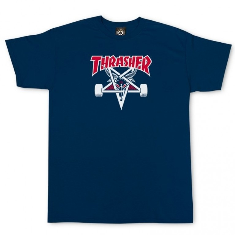 Футболка Thrasher Two-Tone Skate Goat S/S Navy